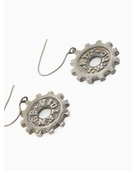 KTZ | Metallic Gear Earring for Men | Lyst