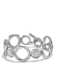 David Yurman | Metallic Infinity Link Bracelet With Diamonds | Lyst