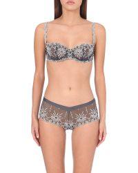Chantelle   Gray Vendome Balconette Bra, Women's, Size: 32d, Deep Grey   Lyst