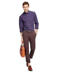 Brooks Brothers | Brown Slim Fit Garment-dyed Chinos for Men | Lyst