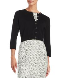Karl Lagerfeld Black Lace-accented Cardigan