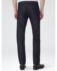 Reiss Blue Moscot Straight Jeans for men