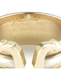 Cartier - Metallic Pre-owned Double C Ring - Lyst