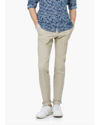 Mango | Natural Slim-fit Cotton Chinos for Men | Lyst