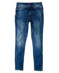 Violeta by Mango Blue Super Slim-fit Andrea Jeans