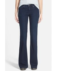 Free People | Blue Gummy Flared Jeans | Lyst