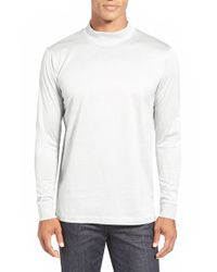 Bugatchi | Metallic Long Sleeve Mock Neck T-shirt for Men | Lyst