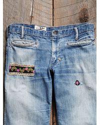 Free People - Blue Vintage Patchwork Jeans - Lyst
