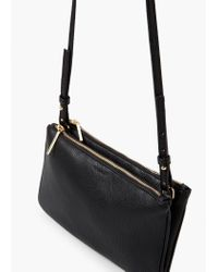 Mango - Black Double Compartment Cross Body Bag - Lyst