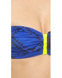 Preen By Thornton Bregazzi | Farrah Bikini - Blue Palm | Lyst