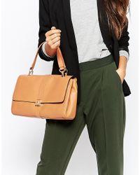 Modalu - Brown Leather Flap Over Shoulder Bag - Lyst
