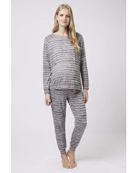 TOPSHOP - Gray Maternity Space Dye Joggers - Lyst