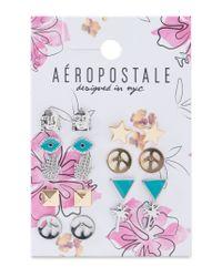 Aéropostale | Multicolor Zen Stud Earring 9-pack | Lyst