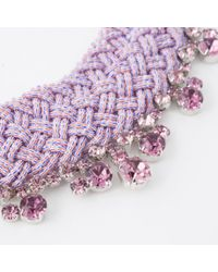 Paul Smith - Purple Women's Pink Beaded And Amethyst 'cleopatra' Necklace - Lyst