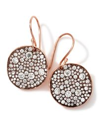 Ippolita - Brown 18k Rose Gold Stardust Flower Diamond Drop Earrings - Lyst