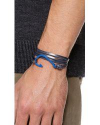 Miansai - Blue Hooked Leather Wrap Bracelet for Men - Lyst
