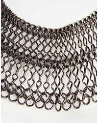 ASOS | Gray Statement Chain Choker Necklace | Lyst