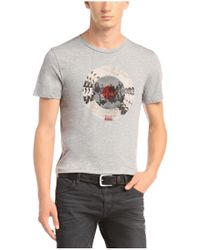 BOSS Orange - Gray T-shirt 'taiwo 2' With A Round Neckline for Men - Lyst