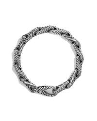 David Yurman | Metallic Chevron Figure-eight Large Link Bracelet for Men | Lyst