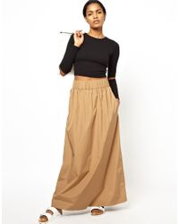 Ann-Sofie Back | Natural Back By Maxi Skirt | Lyst