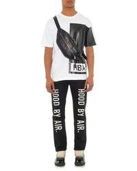 Hood By Air Black Ilusion Block Cotton T-Shirt for men