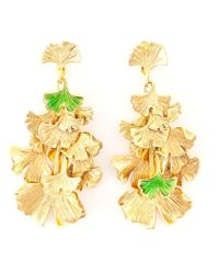 Aurelie Bidermann | Metallic Ginkgo Clip-on Earrings | Lyst
