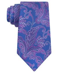 Ike Behar | Blue Paisley Perfect Tie for Men | Lyst