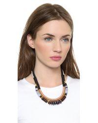 Lizzie Fortunato - The Working Uniform Ii Necklace - Black/Tan - Lyst