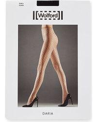 Wolford | Black Daria Polka-dot Tights | Lyst