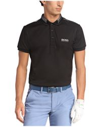 BOSS Green Black 'paddy Pro' | Modern Fit, Moisture Manager-uv Polo Shirt for men