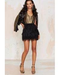 Nasty Gal - Black Birds Of A Feather Mini Skirt - Lyst