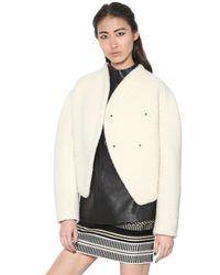Proenza Schouler White Bonded Wool Boucle Jacket