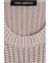 Iris Von Arnim Gray Cashmere Pullover - Beige