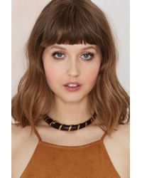 Nasty Gal - Brown Coil Up Wood Collar - Lyst
