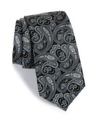 Calibrate Black Paisley Silk Tie for men