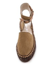 Free People - Brown Leigh Hill Footbed Sandals - Lyst