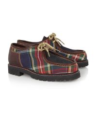 Penelope Chilvers Brown Tartan Twill, Leather And Suede Brogues