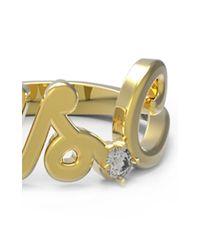 Alison Lou | Metallic Customizable White Diamond Mrs. Ring | Lyst
