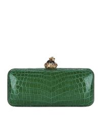Ethan K - Green Bumblebee Crocodile Clutch - Lyst