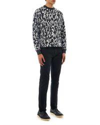Adieu Black Crochet Leather Derby Shoes for men
