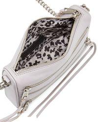 Rebecca Minkoff   Gray Five-zip Mini Crossbody Bag   Lyst