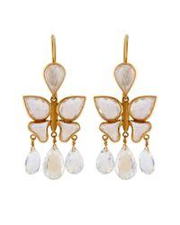 Marie-hélène De Taillac | Moon Stone & Yellow-Gold Earrings | Lyst