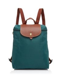 Longchamp | Green Backpack - Le Pliage | Lyst