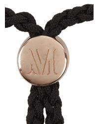 Monica Vinader - Black Fiji Energy 18Kt Rose Gold Plated Bracelet - Lyst