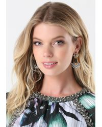 Bebe - Metallic Flower Drop Earrings - Lyst