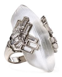 Alexis Bittar | Metallic Lucite Baguette Cocktail Ring | Lyst
