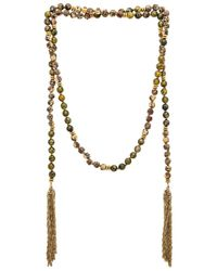 Lucky Star - Green Gypset Tassel Wrap Necklace - Lyst