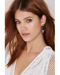 Anita | Metallic K Robinhood Nickel Plated Arrow Earrings | Lyst