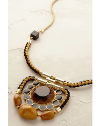 Blank NYC | Brown Amber Pendant Necklace | Lyst