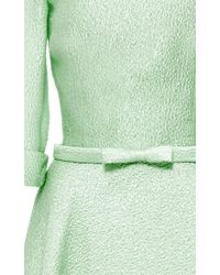 Naeem Khan Green Silk Jacquard A-line Ball Gown